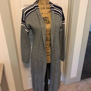 heartloom sweater cardigan with stripe details
